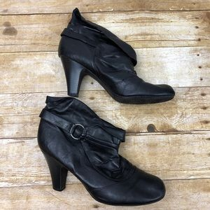 Black Booties by sm New York Silver Accents sz 11